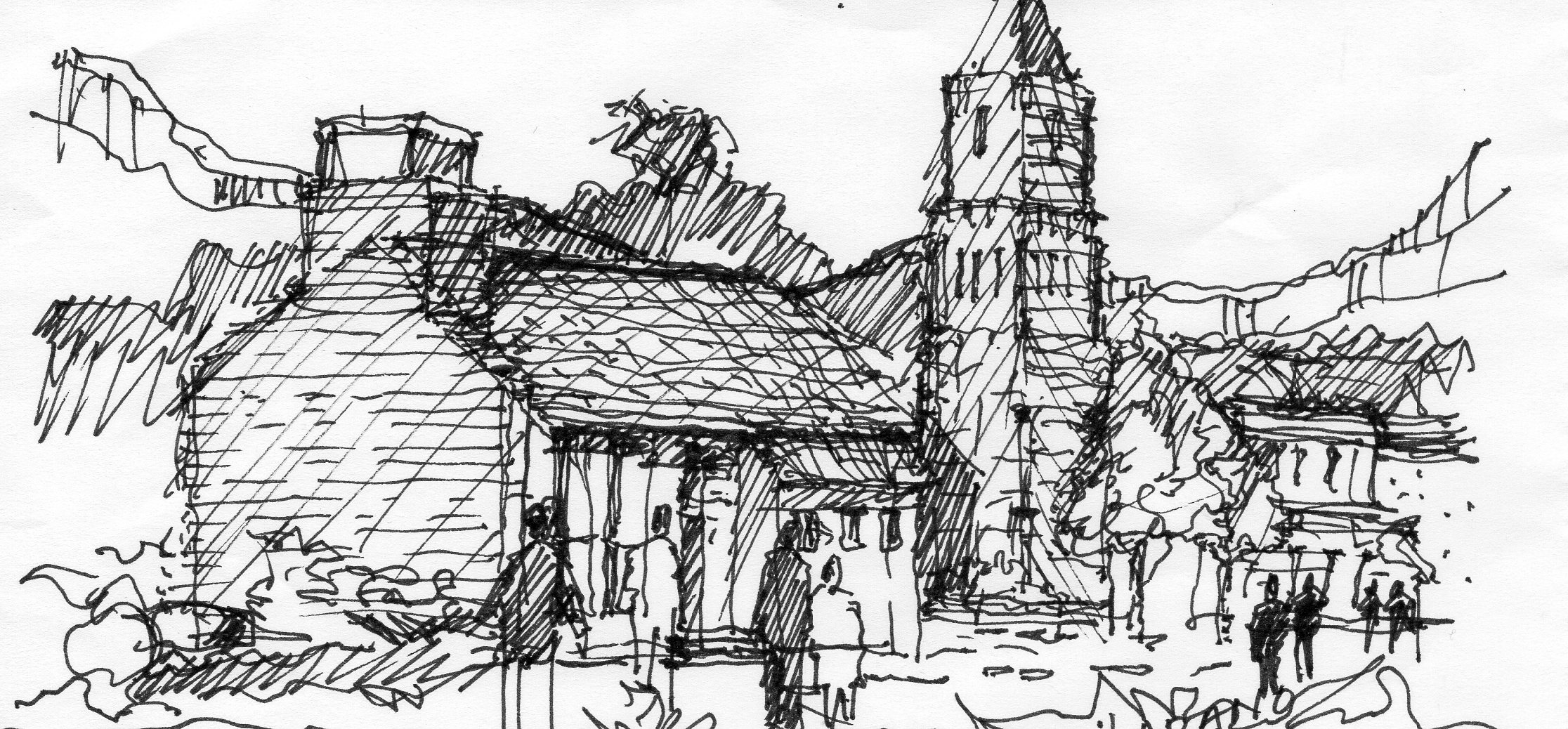 Freehand sketching joe larano arts architecture Online architecture drawing